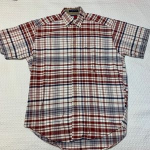 Tommy Hilfiger Short Sleeve Plaid Button Up Sz S